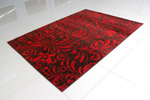 PRT1605 Brown Red Area Rug