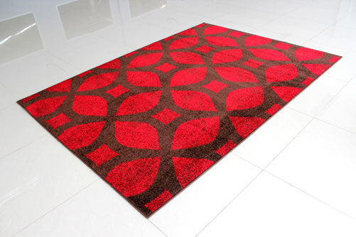 PRT1606 Brown Red Area Rug