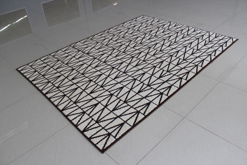 PRT1610 Ivory Brown Area Rug