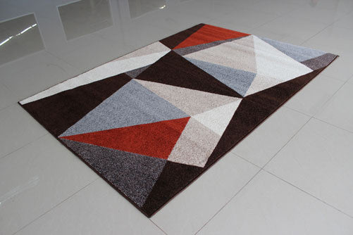 PRT1612 Brown Grey Area Rug