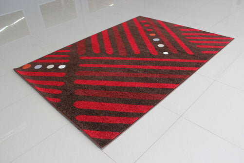 PRT1614 Brown Red Area Rug