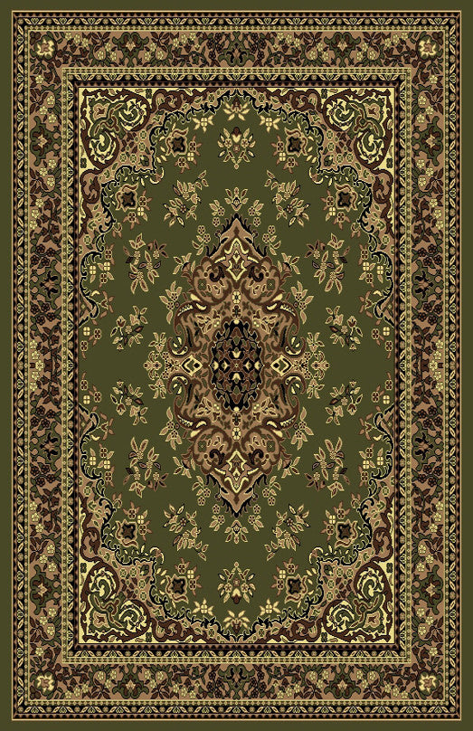 R420 Sage Green Brown Area Rug