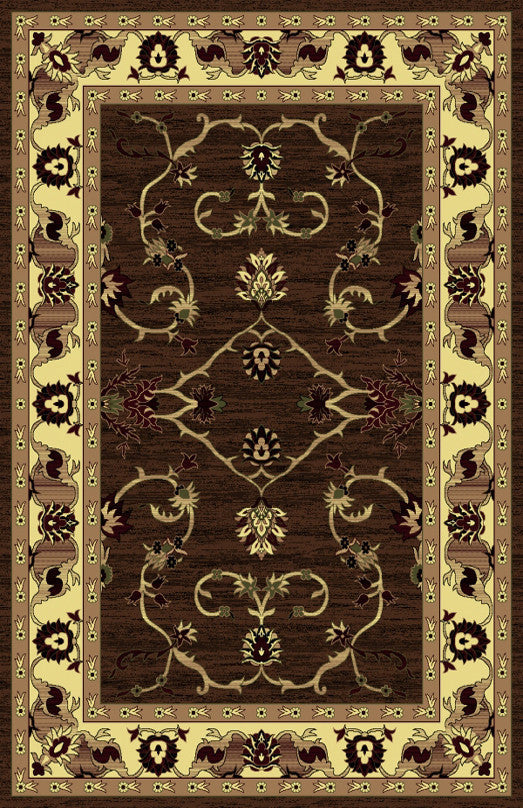 R434 Brown Area Rug
