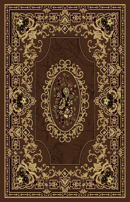 R435 Brown Area Rug