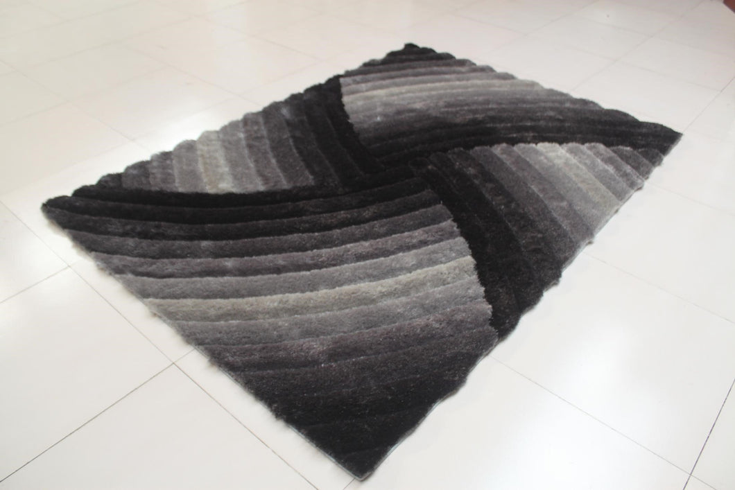 Joshawn Stain Resistant Gray Area Rug