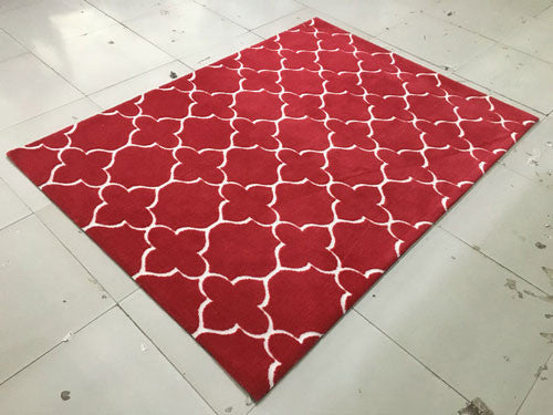 SL4001 Burgundy Area Rug