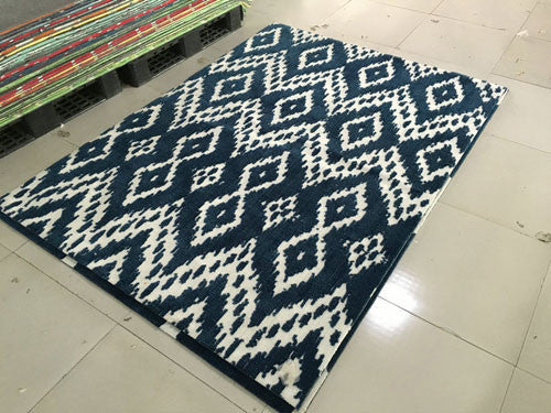 SL4003 Navy Blue Blue Area Rug