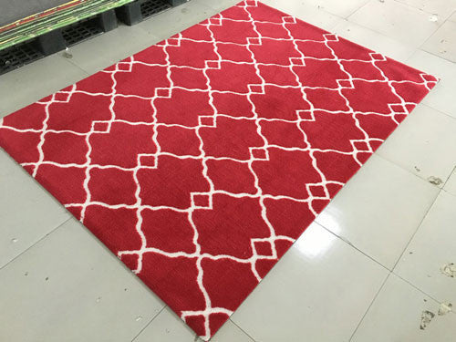 SL4005 Burgundy Area Rug