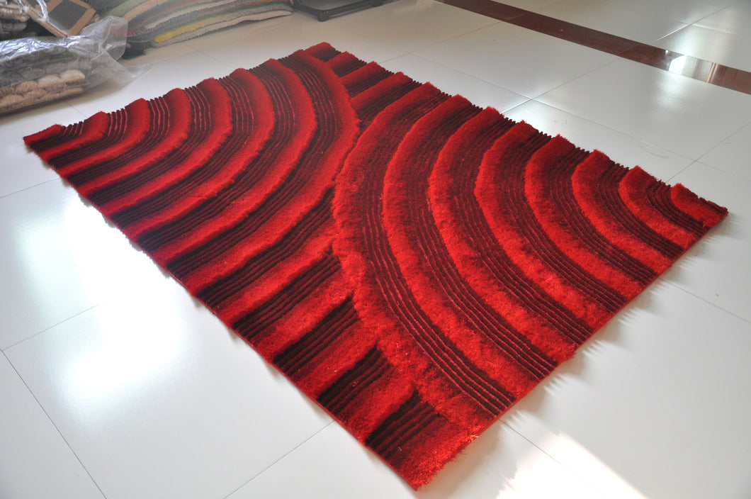TD164 Red Area Rug