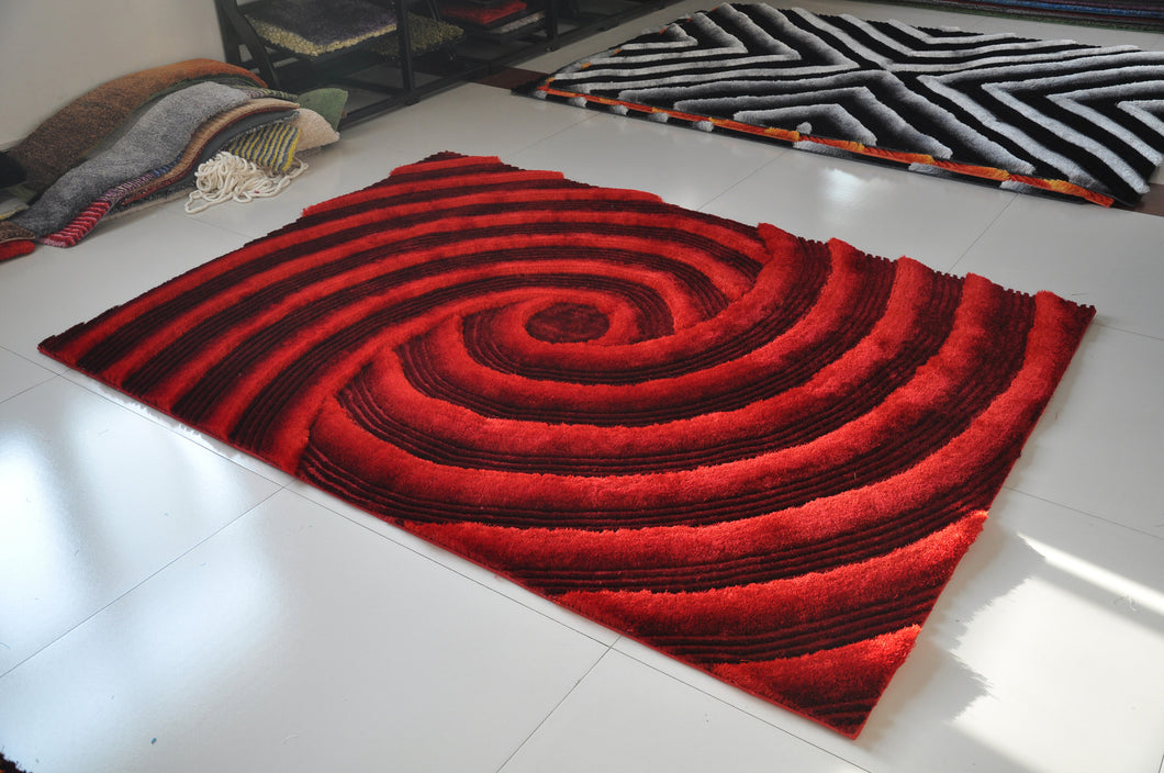 TD252 Red Area Rug