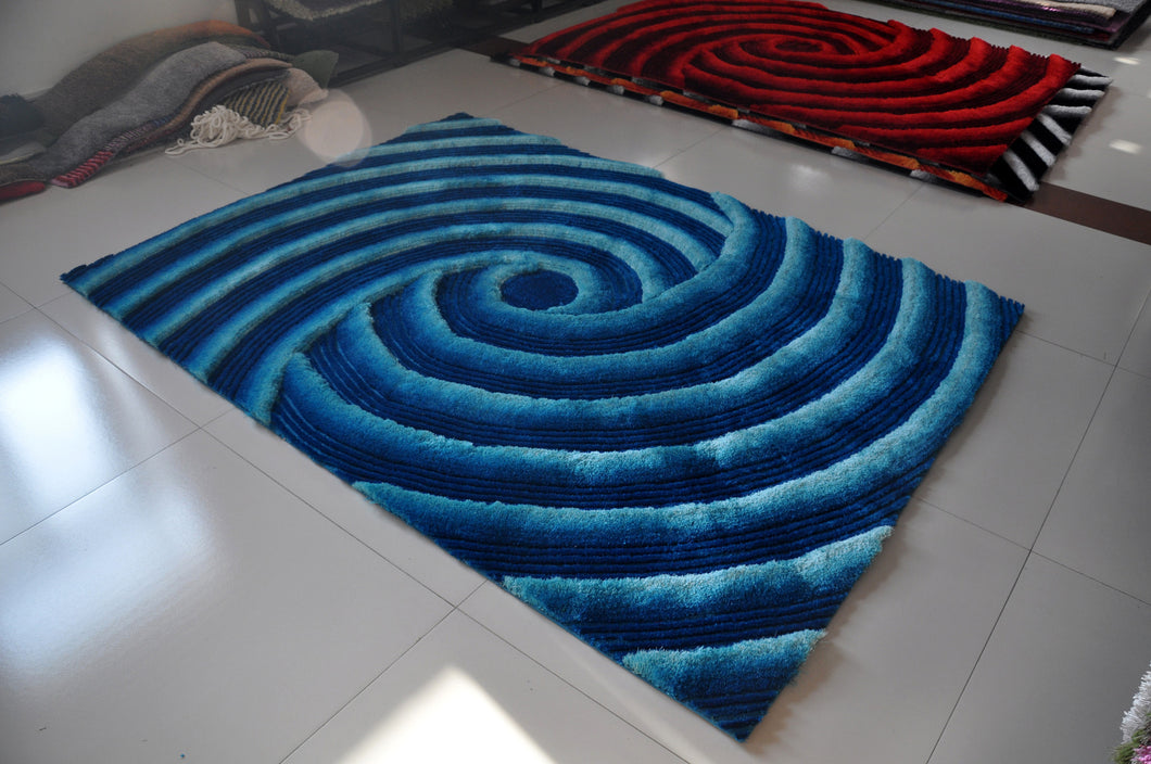 TD252 Turquoise Area Rug