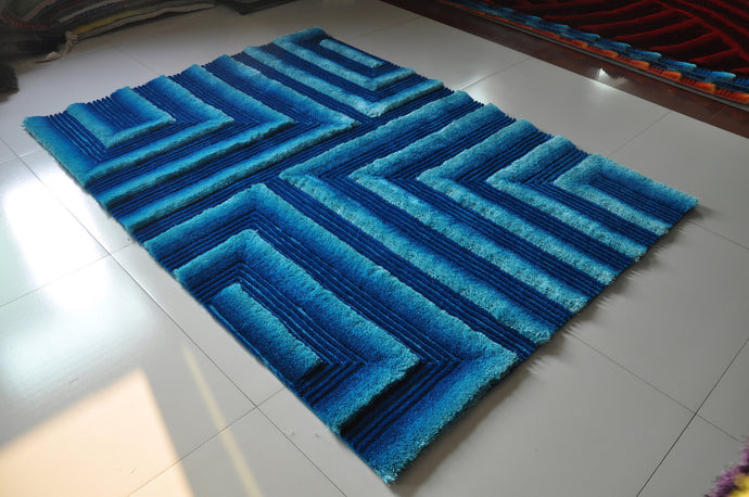TD554 Turquoise Area Rug
