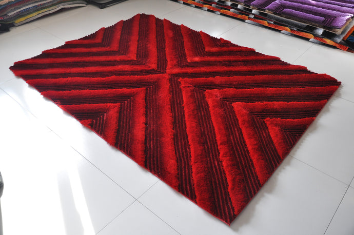 TD555 Red Area Rug