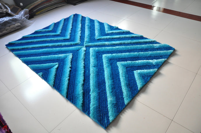TD555 Turquoise Area Rug