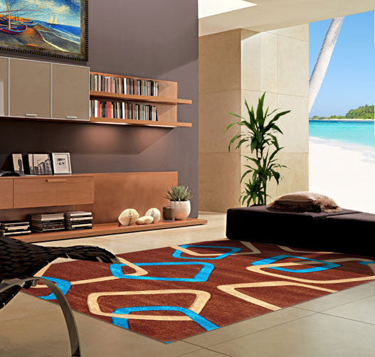 V1001 Turquoise Area Rug