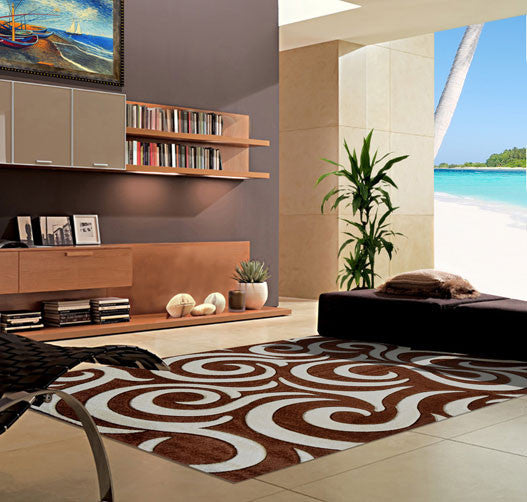 V1004 Brown Area Rug