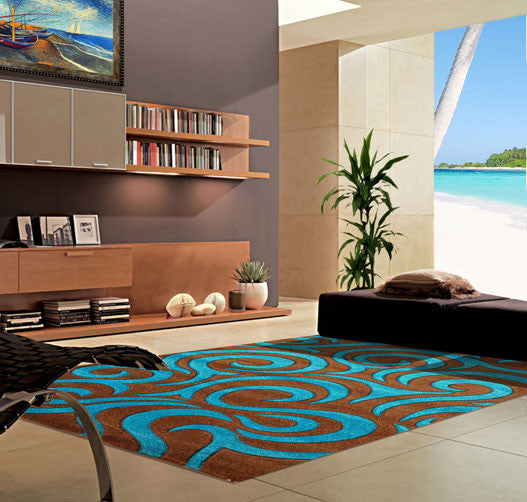V1004 Turquoise Area Rug