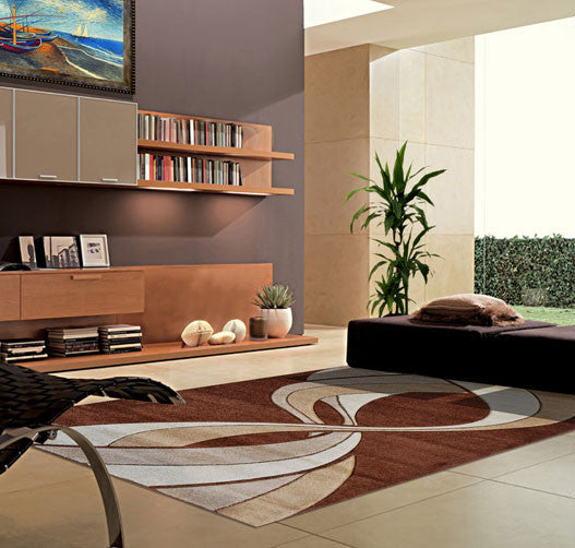 V1005 Brown Area Rug
