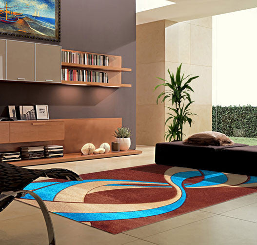 V1005 Turquoise Area Rug