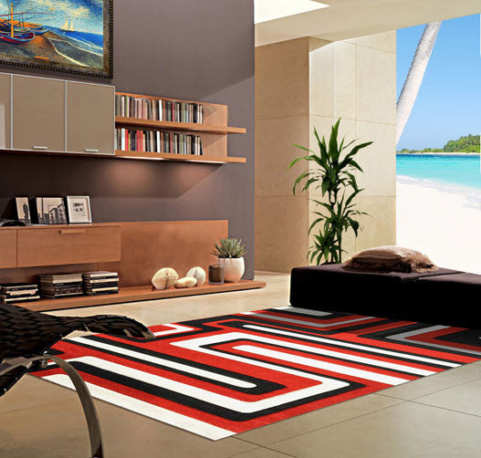 V1006 Dark Red Area Rug