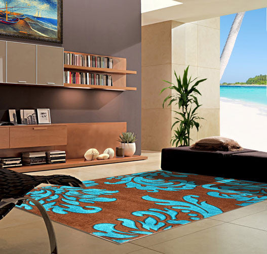 V1007 Turquoise Area Rug