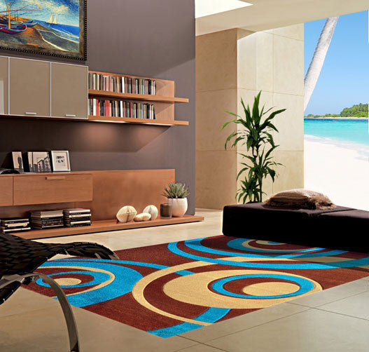 V1008 Turquoise Area Rug