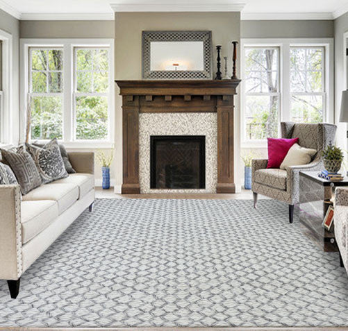 Wellington2003 Ivory Grey Area Rug