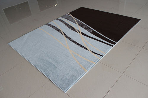 W1501 Dark Brown Navy Blue Area Rug