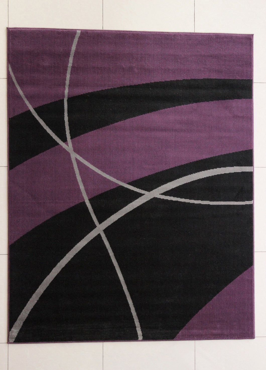 Wali Black/Purple Area Rug