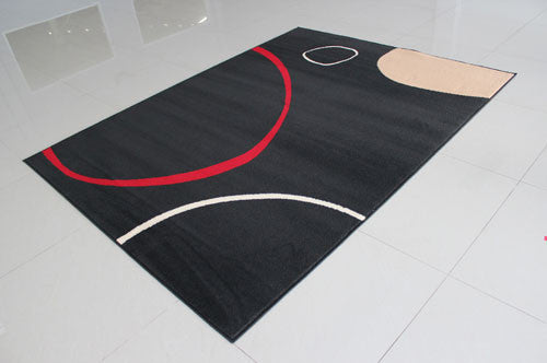 W1508 Black Red Area Rug