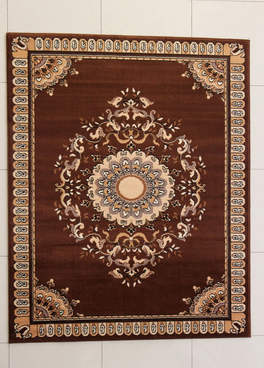Abney Brown Area Rug - Rug Tycoon