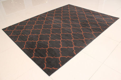 W1521 Black Brown Area Rug