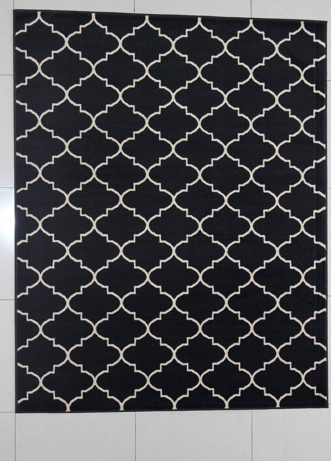Hartley Black Area Rug