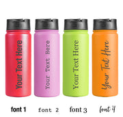 Custom Text 18oz Klear Bottle
