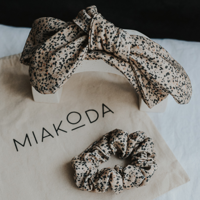 The Dalmatian Headband & Scrunchie | Miakoda New York x Wabi-Sabi Botanicals