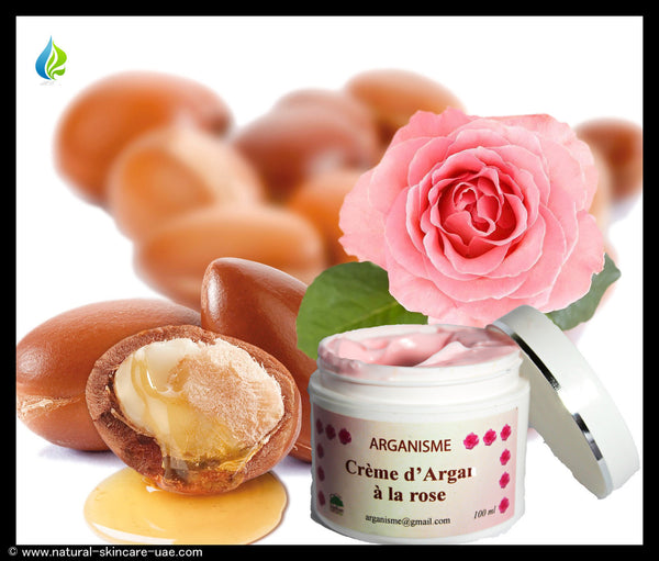 Natural Argan oil and Rose day cream (100 ml) | Natural Cosmetics UAE