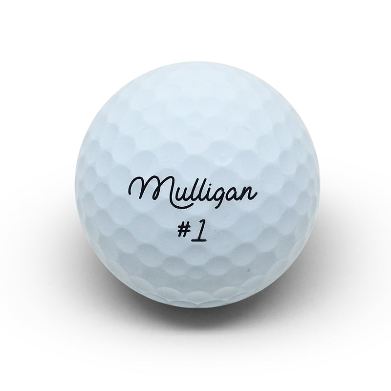 MULLIGAN SMOOTH - 3 PACK GOLF BALLS - WHITE
