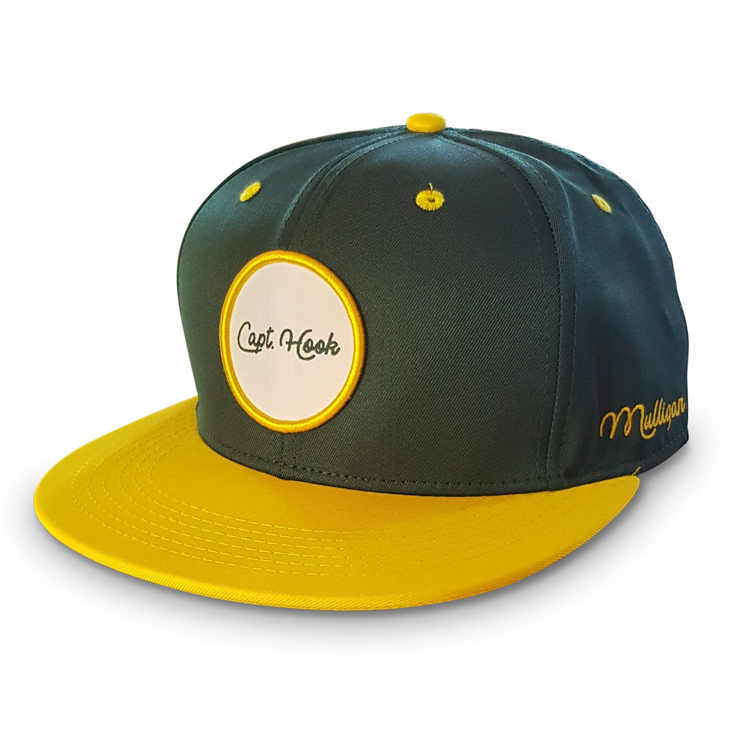 CAPT. HOOK - SNAPBACK CAP - GREEN & YELLOW