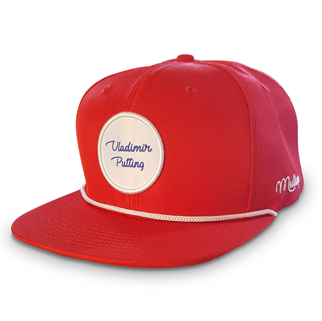 VLADIMIR PUTTING - SNAPBACK CAP - RUSSIAN RED