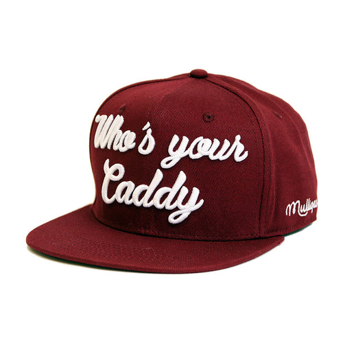 WHO'S YOUR CADDY - SNAPBACK CAP - RUBY RED