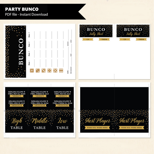 Party Bunco Printable Game