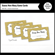 Guess How Many Printable Party Game