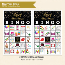 New Year Bingo