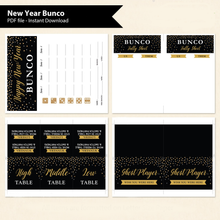 New Year Bunco Printable Game