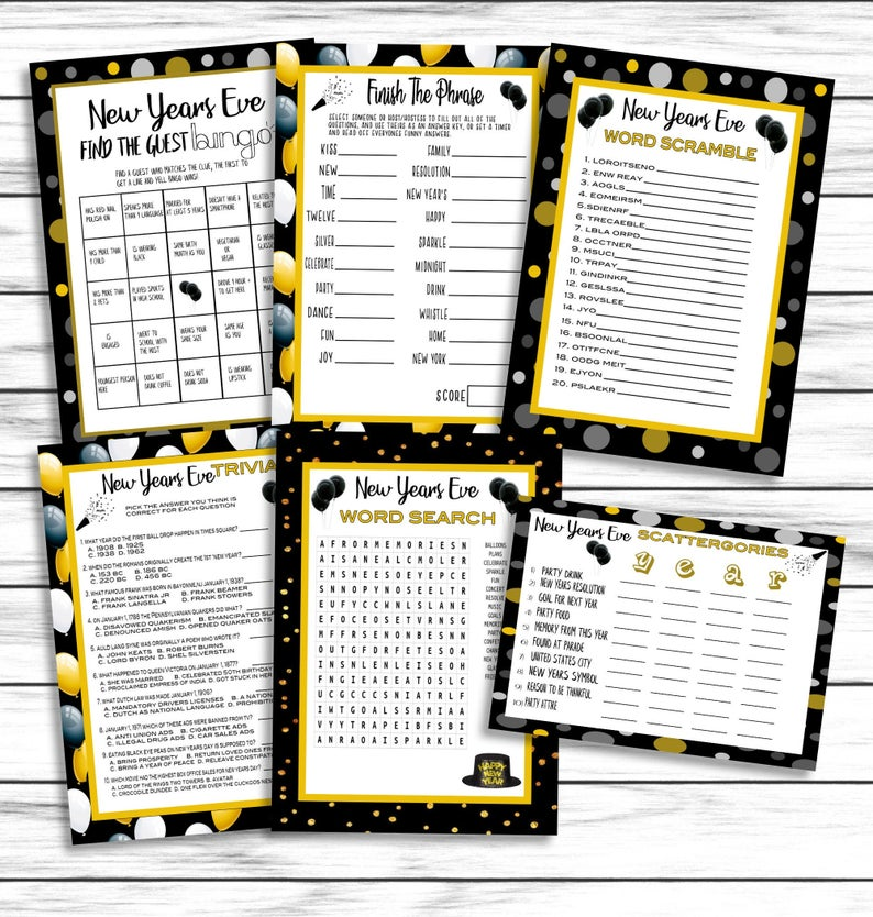 Printable Games Pack