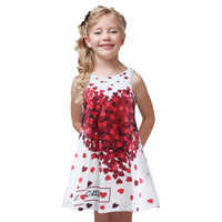 Hot Kids Dress Summer Style Girls Casual Dresses Princess Baby Girls Clothes Heart Print Children Costume Kids Clothes For Girls