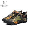 2016 MILANAO men outdoor waterproof canvas hiking shoes , low Anti skid Wear resistant breathable fish climbing hiking boots