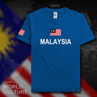 Malaysia men t shirt Malaysian 2017 jerseys nation team tshirt 100% cotton t-shirt meeting fitness gyms clothing tees country MY