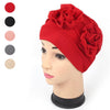 Fashion Women Muslim Head Covering Hats Abaya Islamic Turban Hijab Flower Hat Headscarf H9