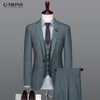Brand Clothing 2017men tuxedo men suits formal groom wedding suits 2pcs/3pcs single button coat/vest/pant slim men business wear